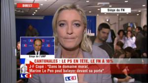Passe d'arme entre Jean-François Copé et Marine Le Pen