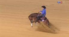 Le 13 heures du 26 août 2014 : Jeux �estres mondiaux : le reining, du dressage fa� cow-boy - 1677.475