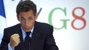 Nicolas Sarkozy au G8 à l'Aquila.