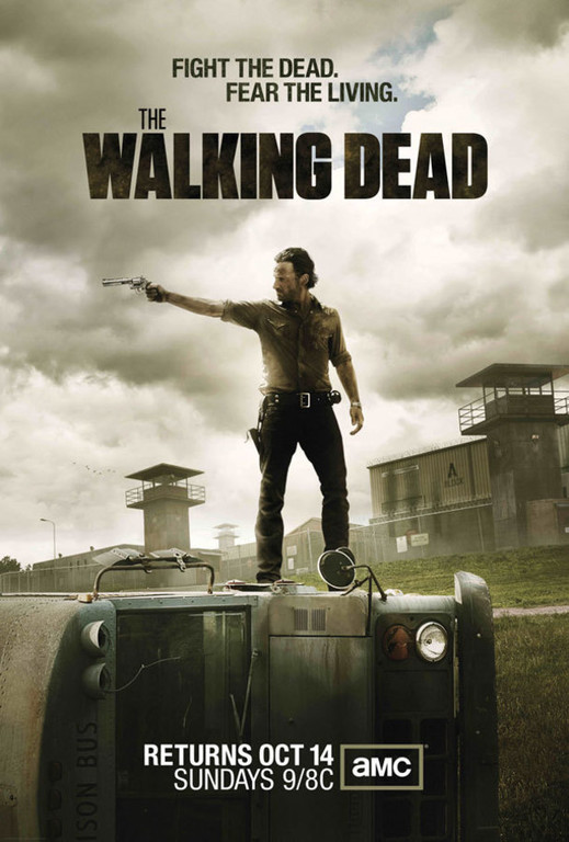 The Walking Dead saison 3. Avec Andrew Lincoln.