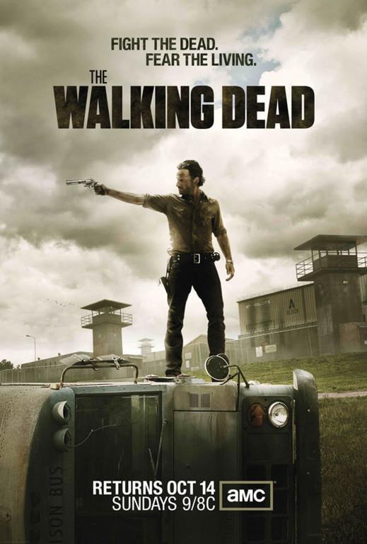 The Walking Dead saison 3. Avec Andrew Lincoln.