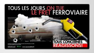 Le CCE et le CE Fret ont financé une campagne d'affichage sur quelque 1.900 panneaux en France