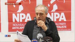 Philippe Poutou, candidat à l'élection présidentielle, le 23 avril 2012.