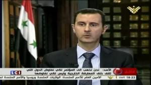 """Bachar al-Assad """"à l'aise"""" pour aller à la conférence de Genève"""