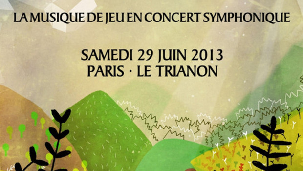"Affiche de ""Game Music is Alive"". Un concert symphonique organisé le 29 juin 2013."