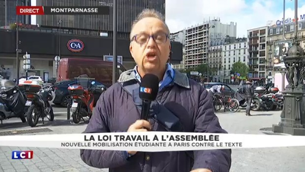 Loi Travail : manifestation étudiante à Paris sous haute sécurité