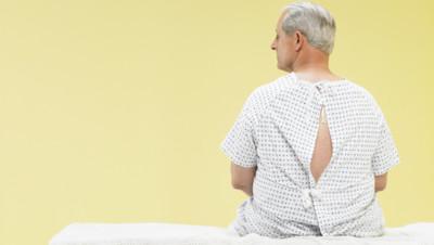 Un patient à l'hôpital.