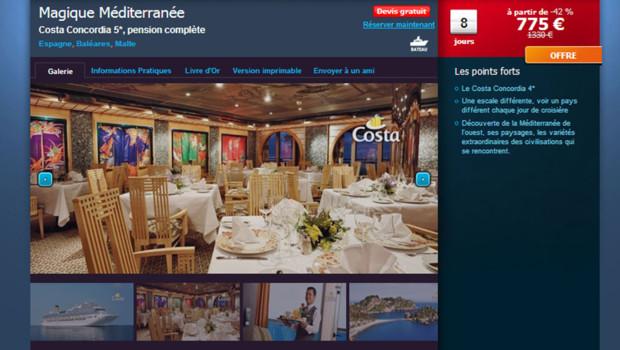 """Qui veut une croisière à prix """"cassé"""" sur le """"Costa Concordia""""?"""