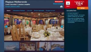 Une semaine après le naufrage, une agence de voyage française propose toujours des séjours à bord du Concordia.