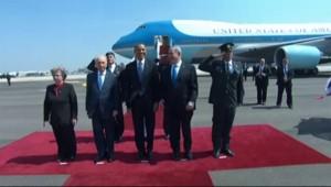 Arrivée d'Obama en Israël : les images