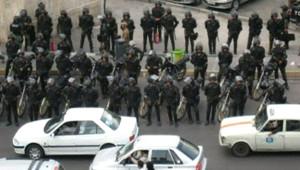 Les forces de l'ordre déployées dans Téhéran, le 20 juin 2009