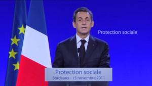 Nicolas Sarkozy le 15 novembre 2011 à Bordeaux.
