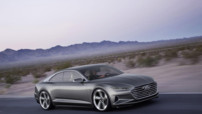 L'Audi Prologue Piloted Driving, un concept de voiture autonome à la motorisation hybride, capable de développer 677 chevaux.