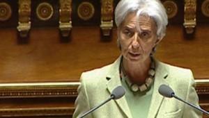 La ministre de l'Economie Christine Lagarde, au Sénat