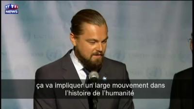 """Leonardo DiCaprio : """"Nous sommes à un tournant décisif"""" de la lutte contre le réchauffement climatique"""
