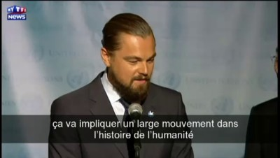 """Leonardo DiCaprio : """"Nous sommes à un tournant décisif"""" pour le climat"""