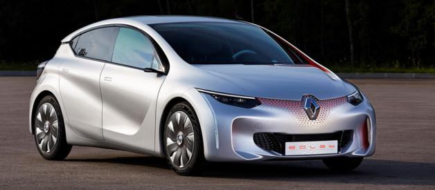 Renault Eolab, concept-cars illustrant la future Mégane 2016 et une hybride consommant 1 l/100 km au Mondial de l'Automobile de Paris 2014