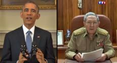 Barack Obama et Raul Castro annonce conjointement un rapprochement USA/Cuba historique, le 17 décembre 2014