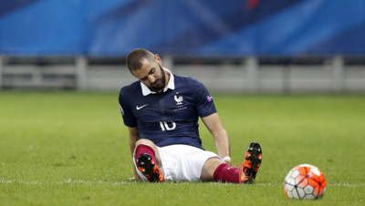 Karim Benzema pendant le match France-Arménie le 8 octobe 2015