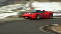La Ferrari 458 Speciale A à l'essai dans le Plein Phare de l'émission Automoto du dimanche 22 février 2015.
