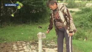 La pompe à eau du village d'Akhstyr à proximité de Sotchi, (Russie) est hors service. 31-12-13