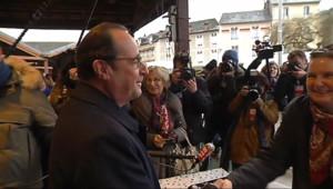 Le 13 heures du 17 janvier 2015 : François Hollande dans son fief de Corrèze pour présenter ses v%u0153ux - 387.14300000000003