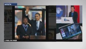 L'interprète en langue des signes aux côtés d'Obama