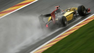 Romain Grosjean GP2 Spa 2011