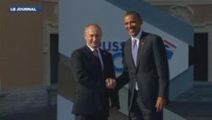Barack Obama et Vladimir Poutine au G20. Image d'archives. 31/12/13