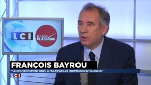"Dette grecque : ""On risque d'aller vers un grave accident"", affirme Bayrou"
