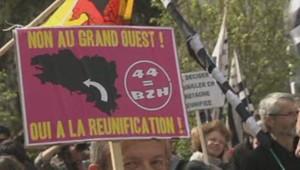 Manifestations à Nantes pour une réunification de la Bretagne