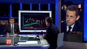 Nicolas Sarkozy sur le plateau du 20 heures de France 2 (22 février 2012)
