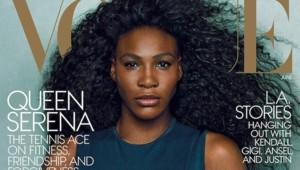Serena Williams faisant la couverture de Vogue pour le numéro d'avril 2015