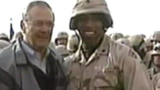 rumsfeld en Irak