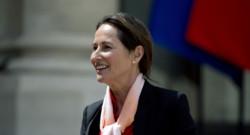 Ségolène Royal à la sortie du conseil des ministres
