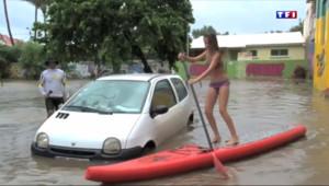 Le 13 heures du 9 mars 2015 : La tempête Haliba s'approche des côtes de La Réunion - 919.5889999999999