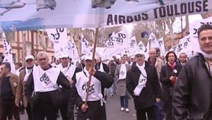Manifestation des salariés d'Airbus à Toulouse