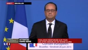 Attentat en Isère : l'intégralité de l'intervention de Hollande