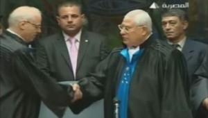 Le président par intérim de l'Egype, Adly Mansour, a prêté serment, le 4 juillet 2013.