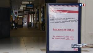 Le 20 heures du 13 juillet 2013 : D�illement de Br�gny : le trafic interrompu en gare d'Austerlitz - 1057.8100000000002
