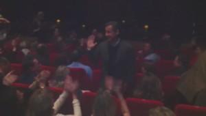 Nicolas Sarkozy au concert de Carla Brunin, vendredi 7 mars.