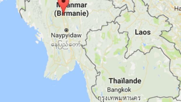 Sésime Birmanie carte