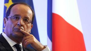 François Hollande avant un discours (archives)