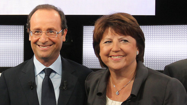 François Hollande Martine Aubry