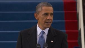 Investiture : Barack Obama prononce son discours après la prestation de serment, 21/1/13
