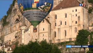 Le 13 heures du 7 juillet 2013 : Rocamadour : survol de la r�on - 1305.04