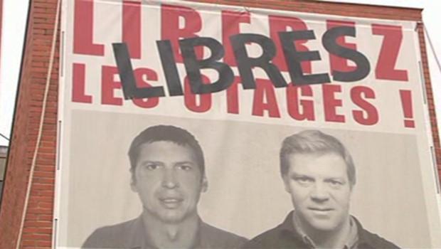Stéphane Taponier (G) et Hervé Ghesquière libérés le 29 juin 2011