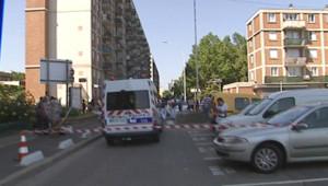 Le parking d'Arcueil sur lequel une fillette de 16 mois est morte, oubliée dans une voiture (5 juin 2010)