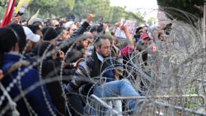 Tunisie : manifestation )à Tunis après l'assassinat de Chokri Belaïd, 6/2/13