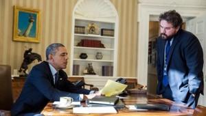 Barack Obama et Cody Keenan, janvier 2014